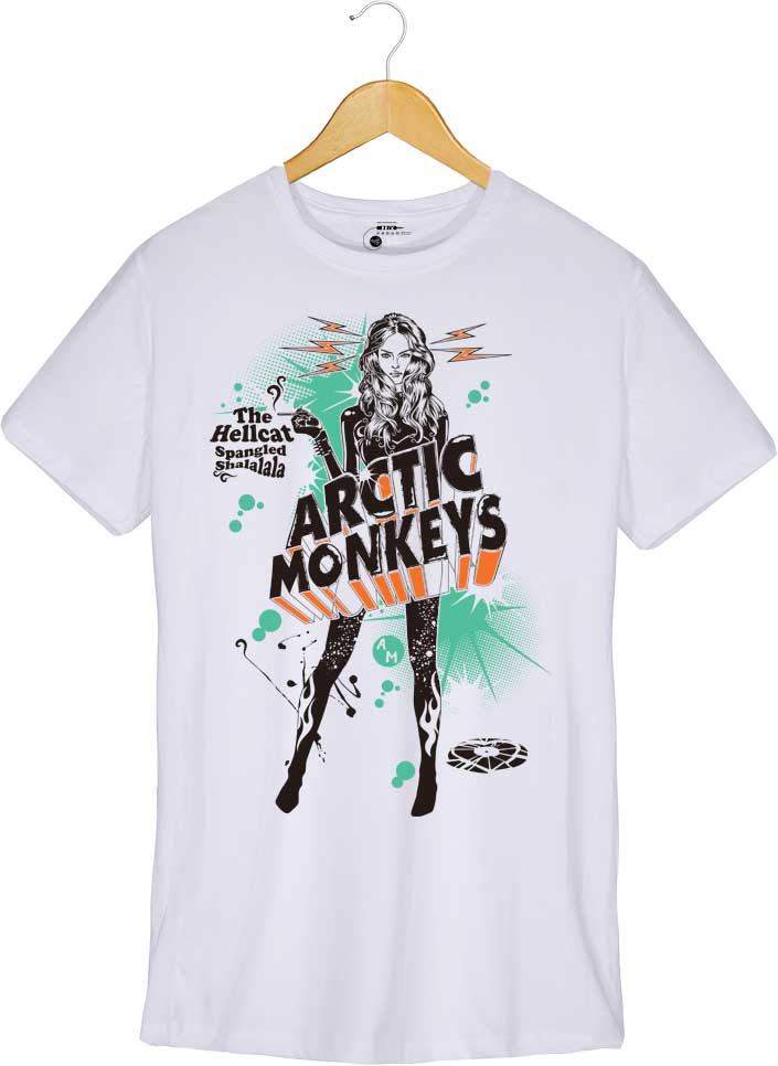 Camiseta - The Hellcat Spangled - Arctic Monkeys - Masculino