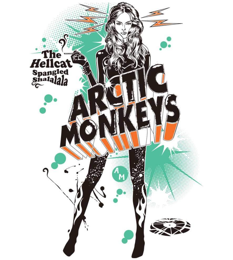 Camiseta - The Hellcat Spangled - Arctic Monkeys - Masculino