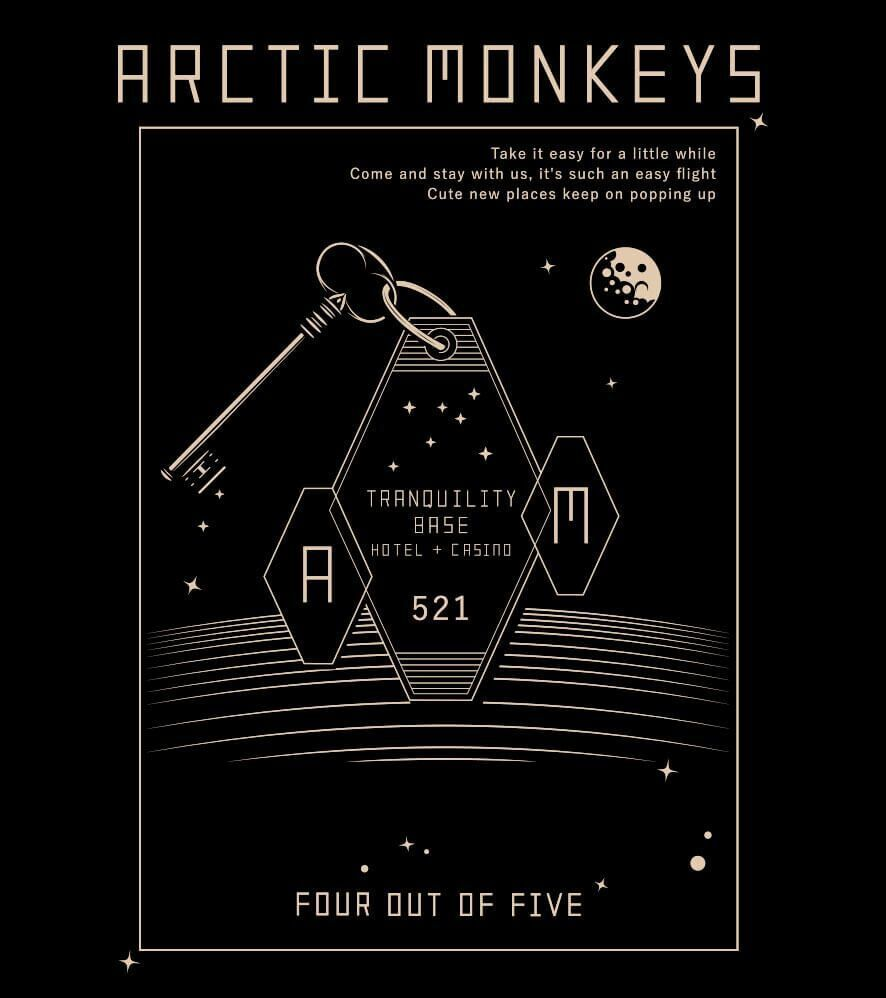Camiseta - Tranquility Base Hotel - Artic Monkeys - Feminino