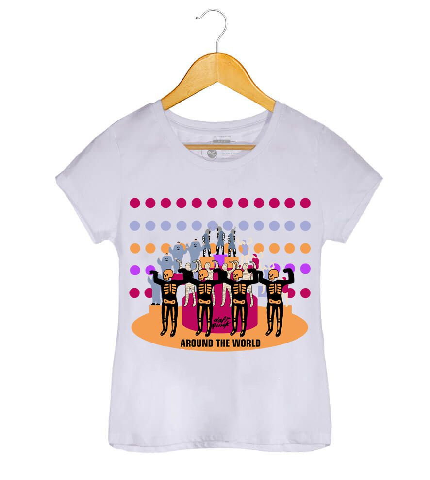 Camiseta - Around The World - Daft Punk - Feminino