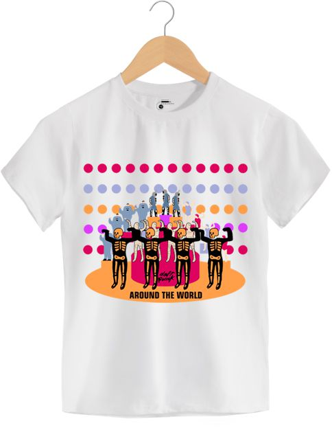Camiseta - Around The World - Daft Punk - Infantil