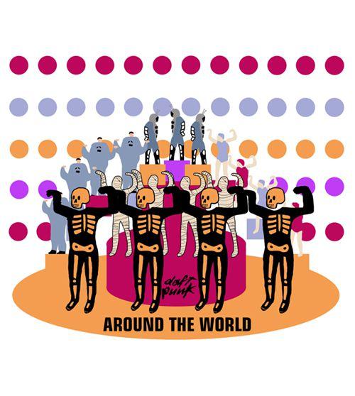 Camiseta - Around The World - Daft Punk - Infantil