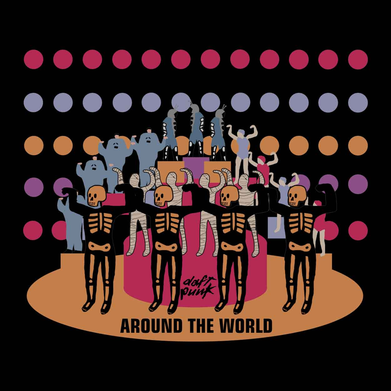 Camiseta - Around The World - Daft Punk - Masculino