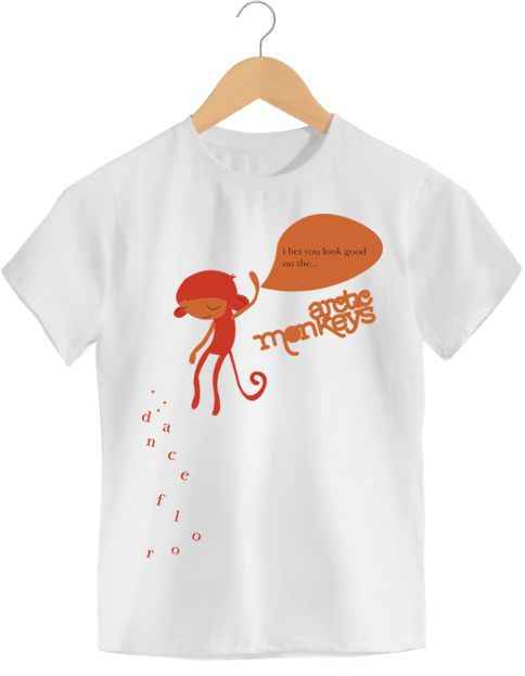 Camiseta - Artic Monkeys - Dance Floor - Infantil