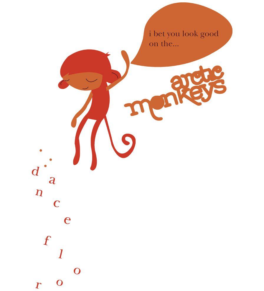 Camiseta - Artic Monkeys - Dance Floor - Infantil
