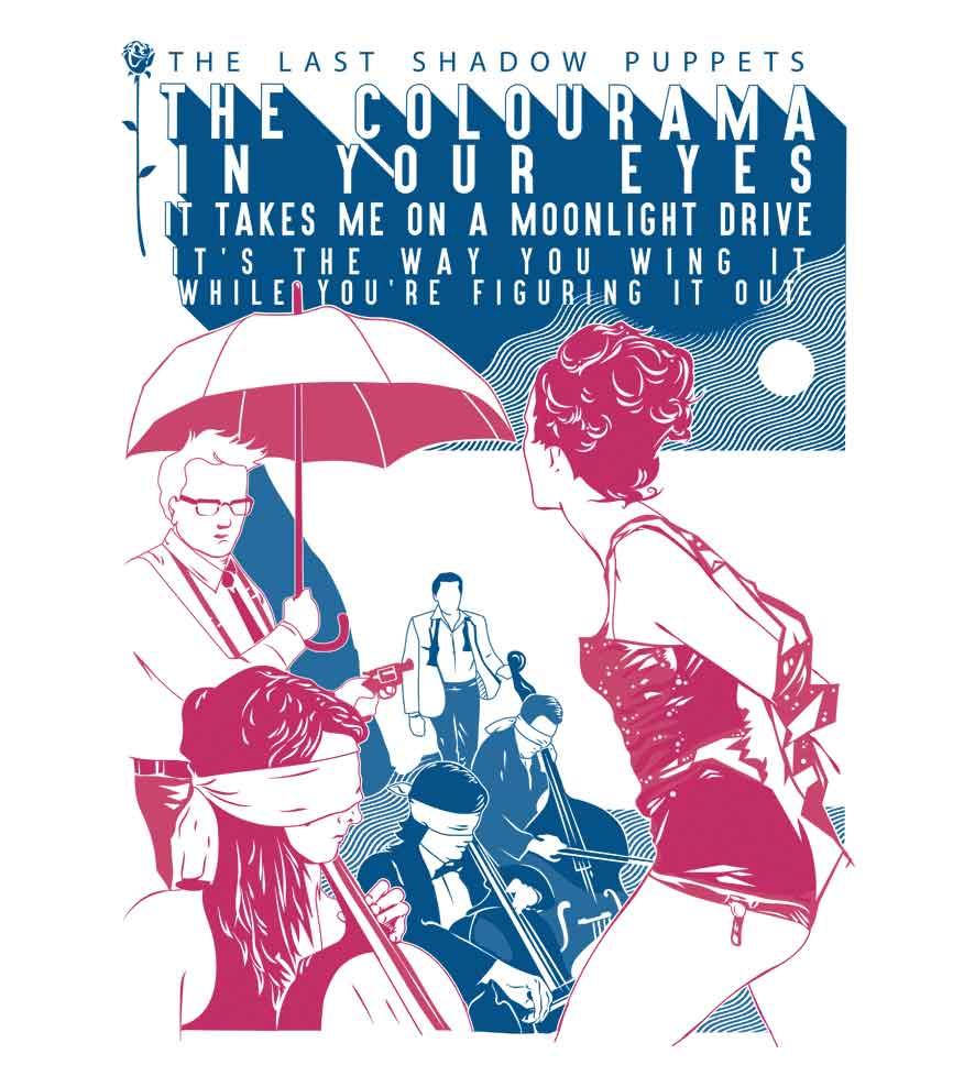 Camiseta - Aviation - The Last Shadow Pupets - Feminino