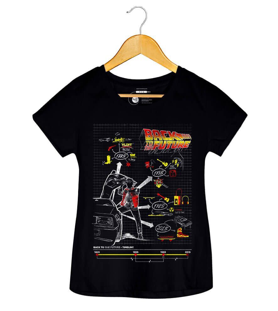 Camiseta Back To The Future - Feminino