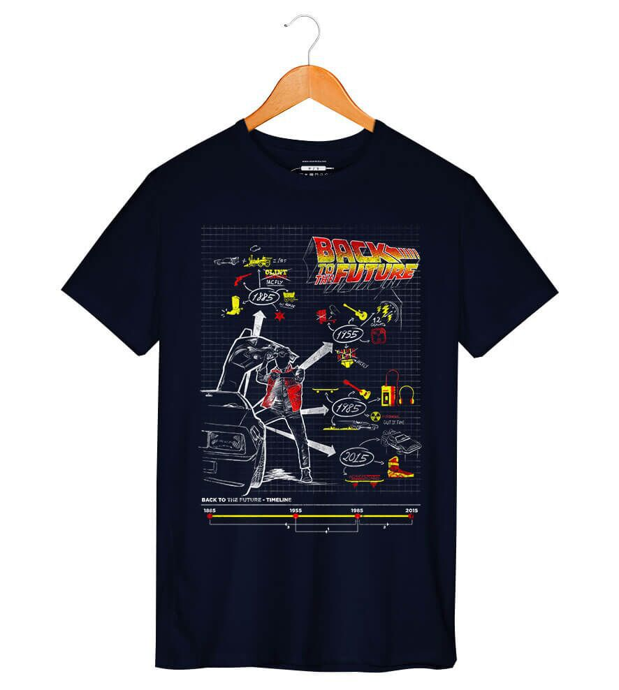 Camiseta - Back To Future - Masculino