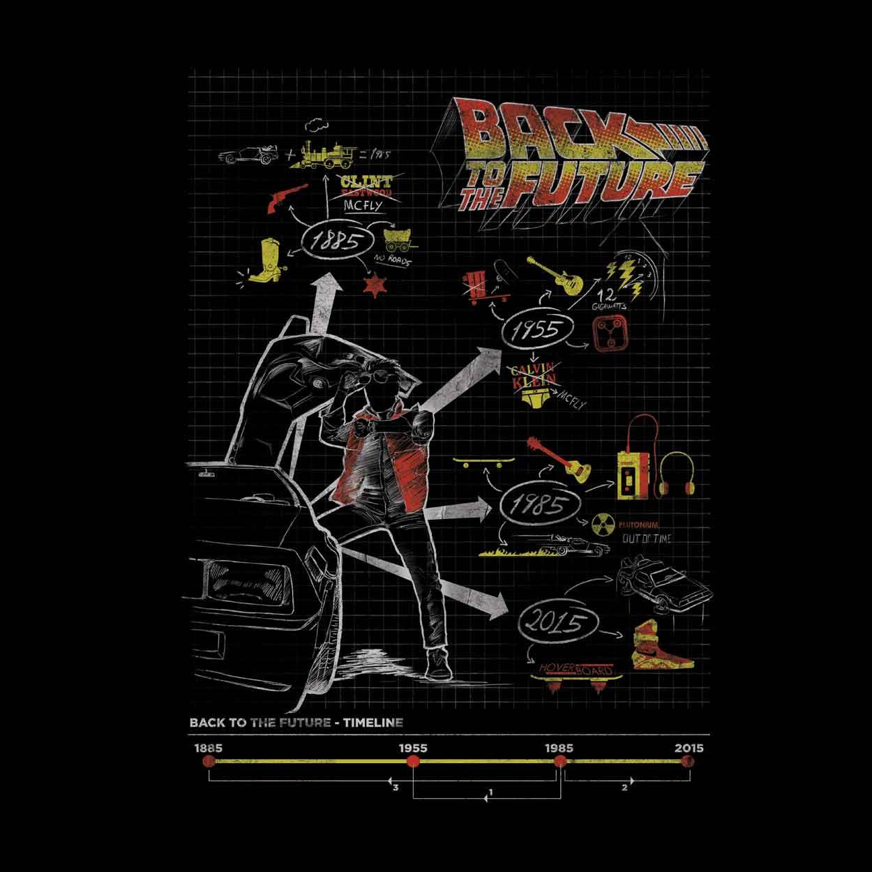 Camiseta Back To The Future - Masculino