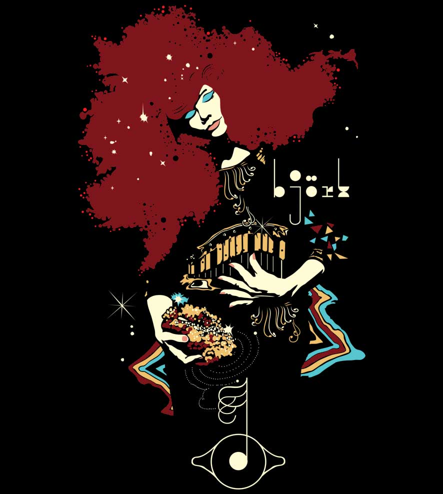 Camiseta - Bjork - Feminino