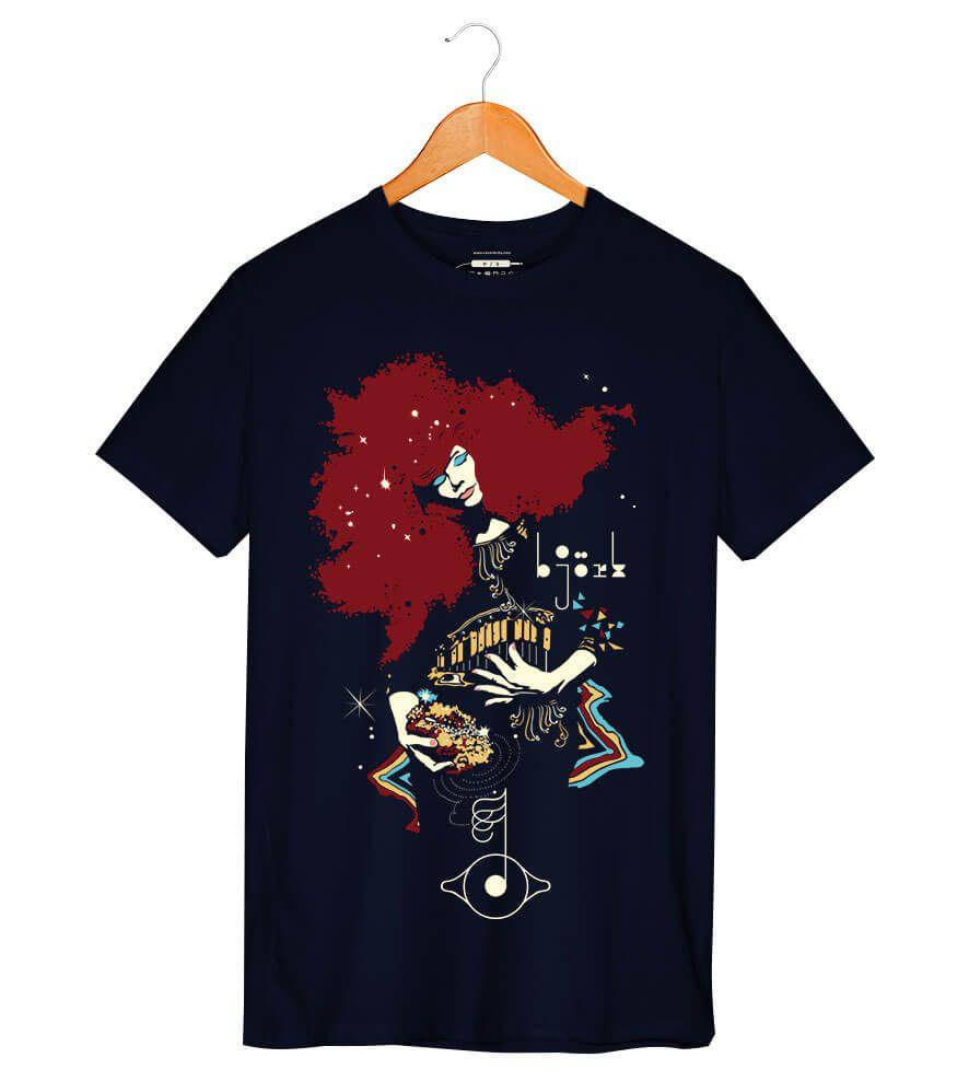 Camiseta - Bjork - Masculino