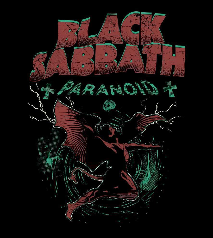 Camiseta - Black Sabbath - Paranoid - Masculino