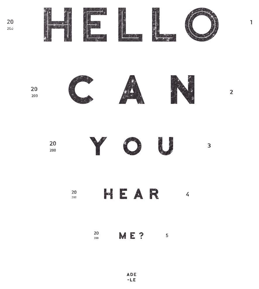Camiseta - Hello - Adele - Infantil