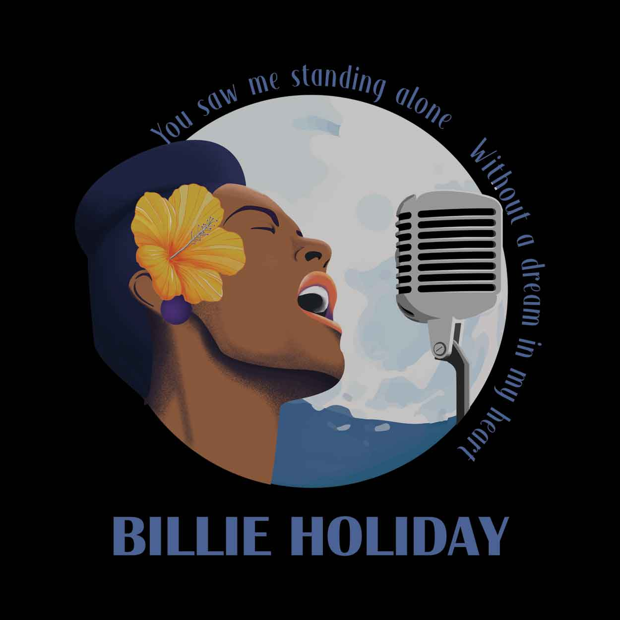 Camiseta Blue Moon - Billie Holiday - Masculino