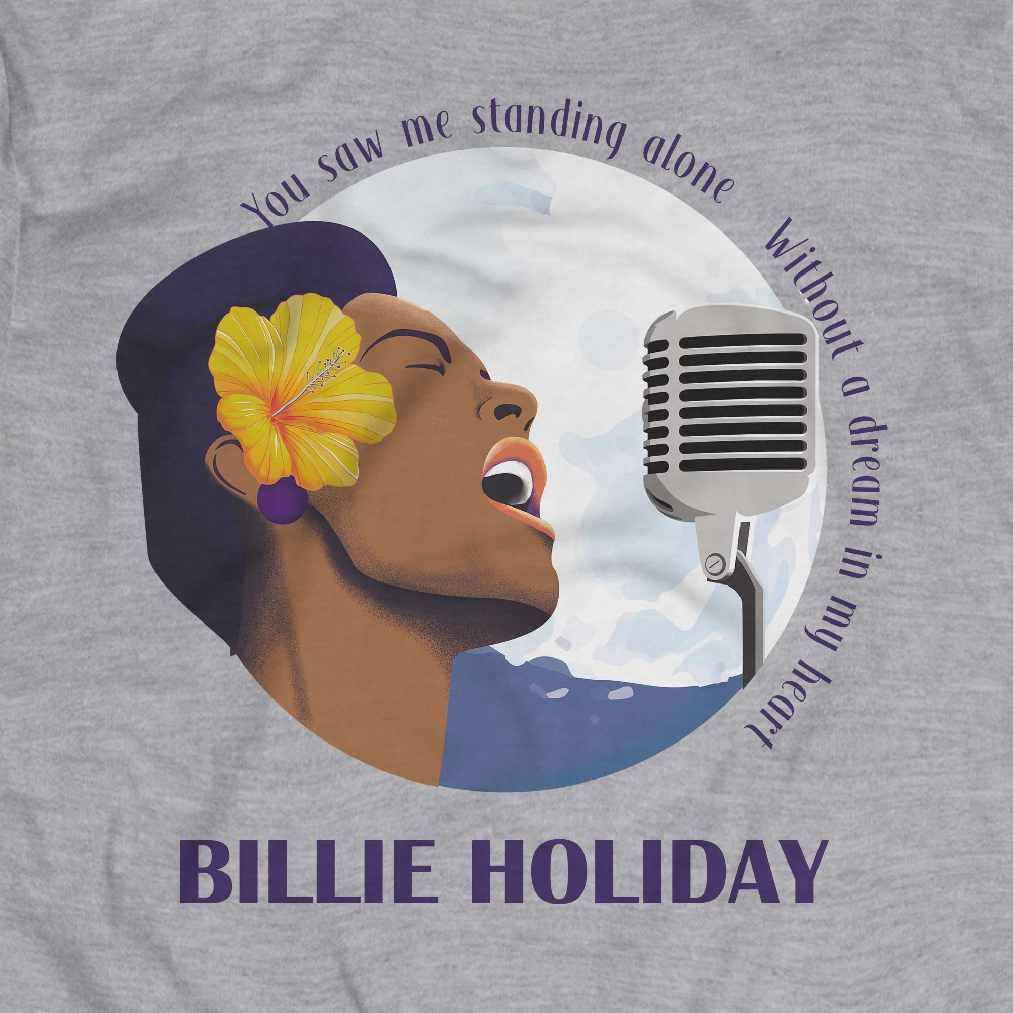 Camiseta Blue Moon - Billie Holiday - Masculino