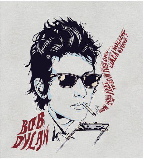 Camiseta - Like a Rolling Stones 2 - Bob Dylan - Feminino