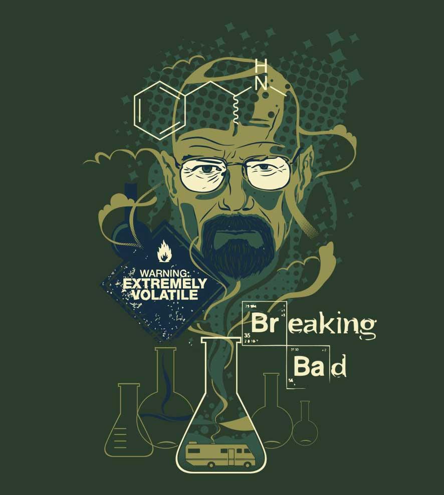 Camiseta - Mr. Walter White -  Breaking Bad  - Masculino