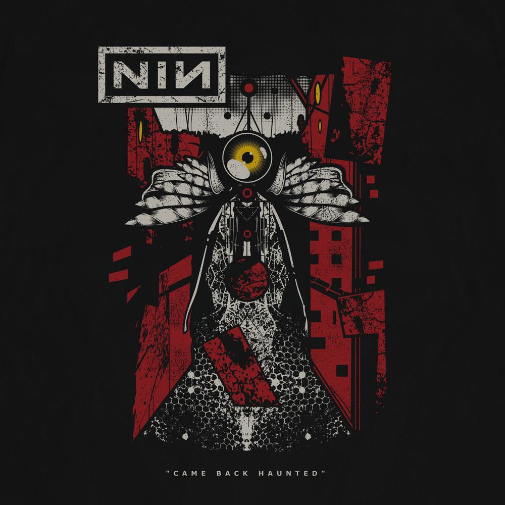 Camiseta Came Back Haunted - NIN - Masculino