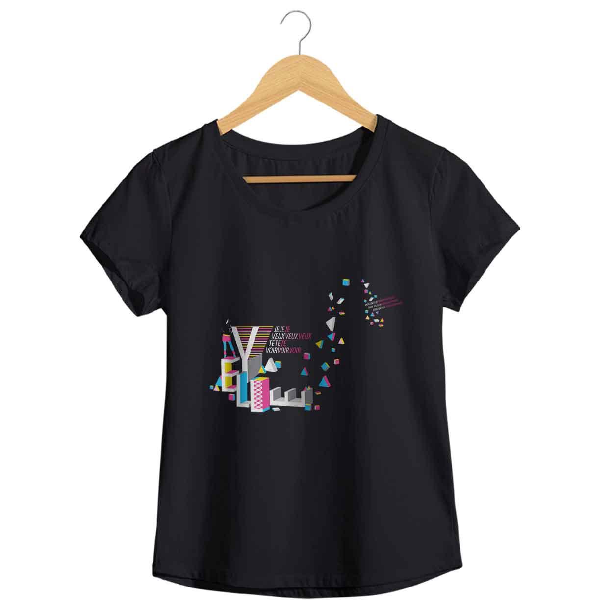 Camiseta Camiseta - Je Veux Te Voir - Yelle - Feminino