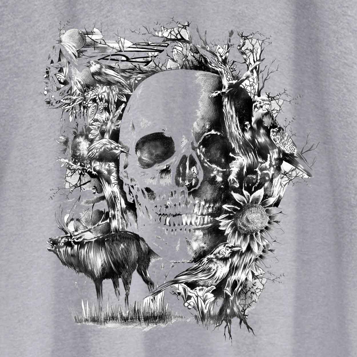 Camiseta Caveira Folk - Feminino