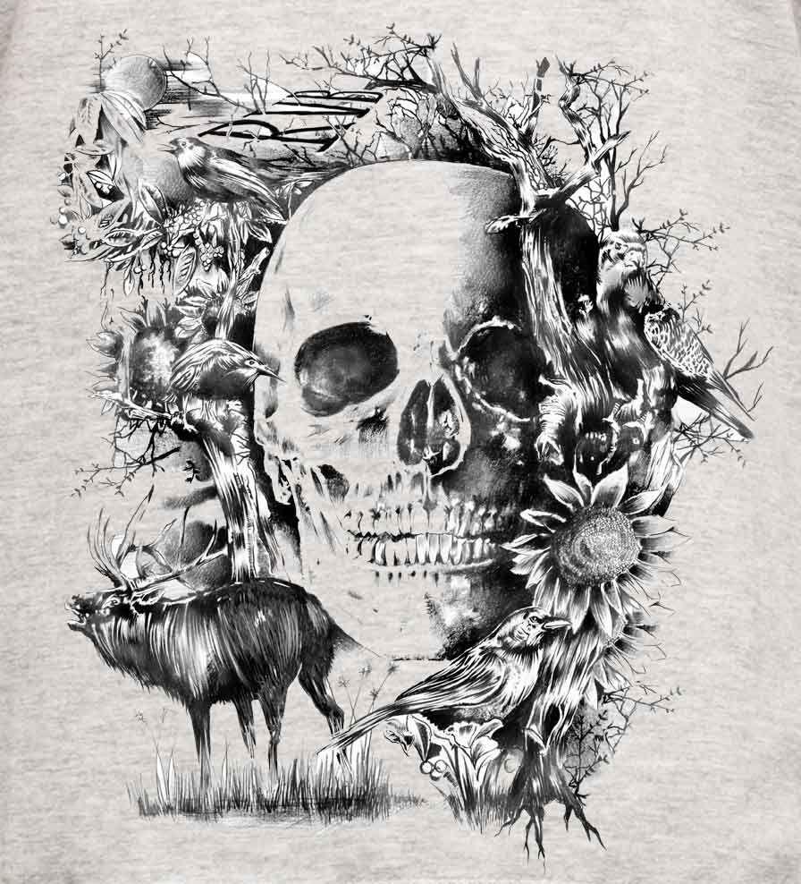 Camiseta - Caveira Folk - Masculino