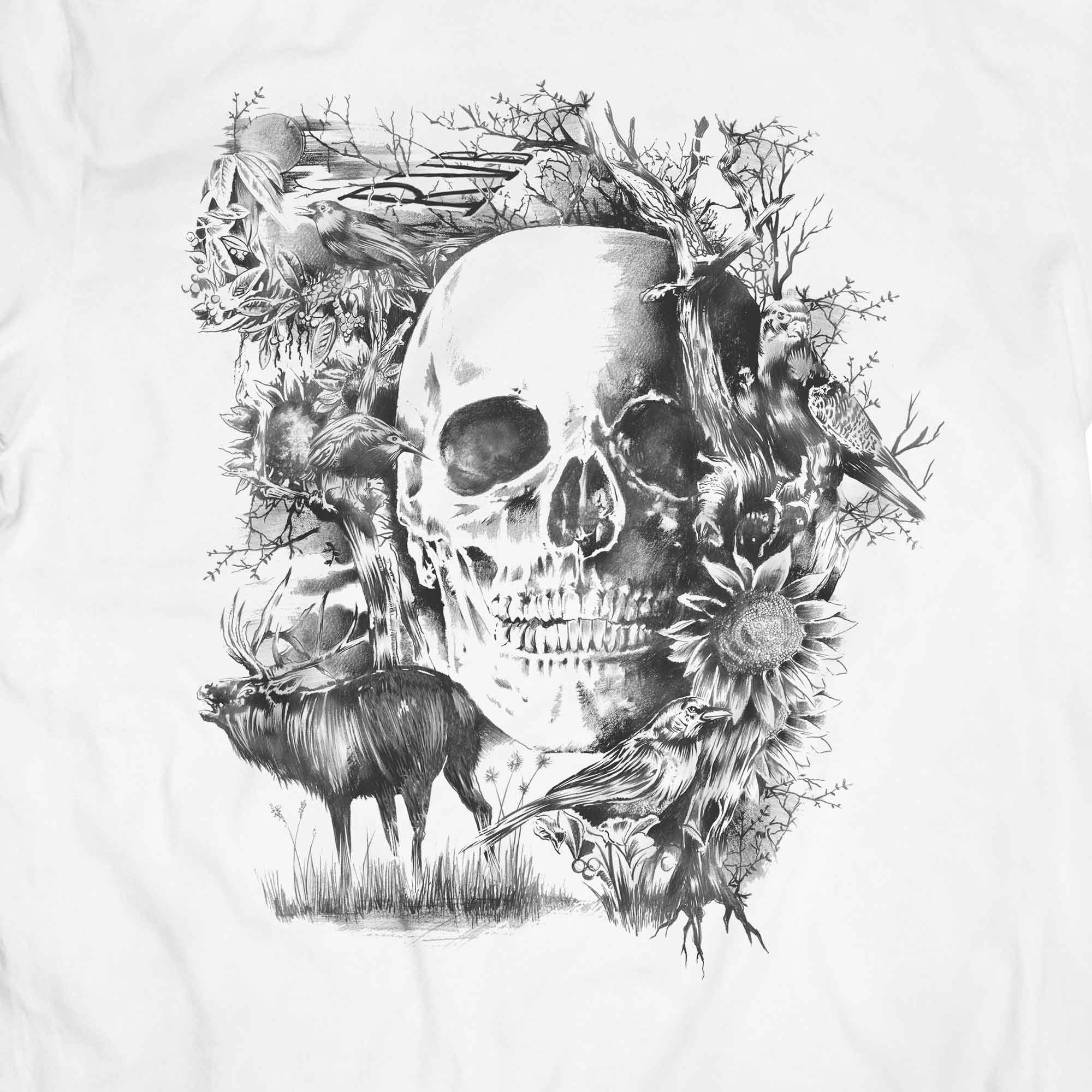 Camiseta Caveira Folk - Masculino