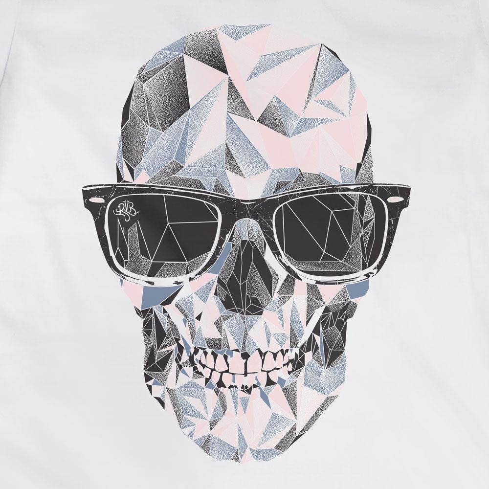 Camiseta Caveira Geométrica - Feminino