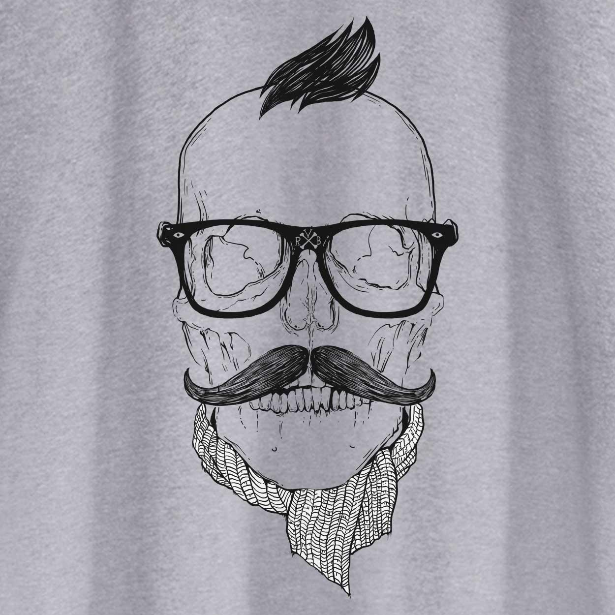 Camiseta Caveira Hipster - Feminino
