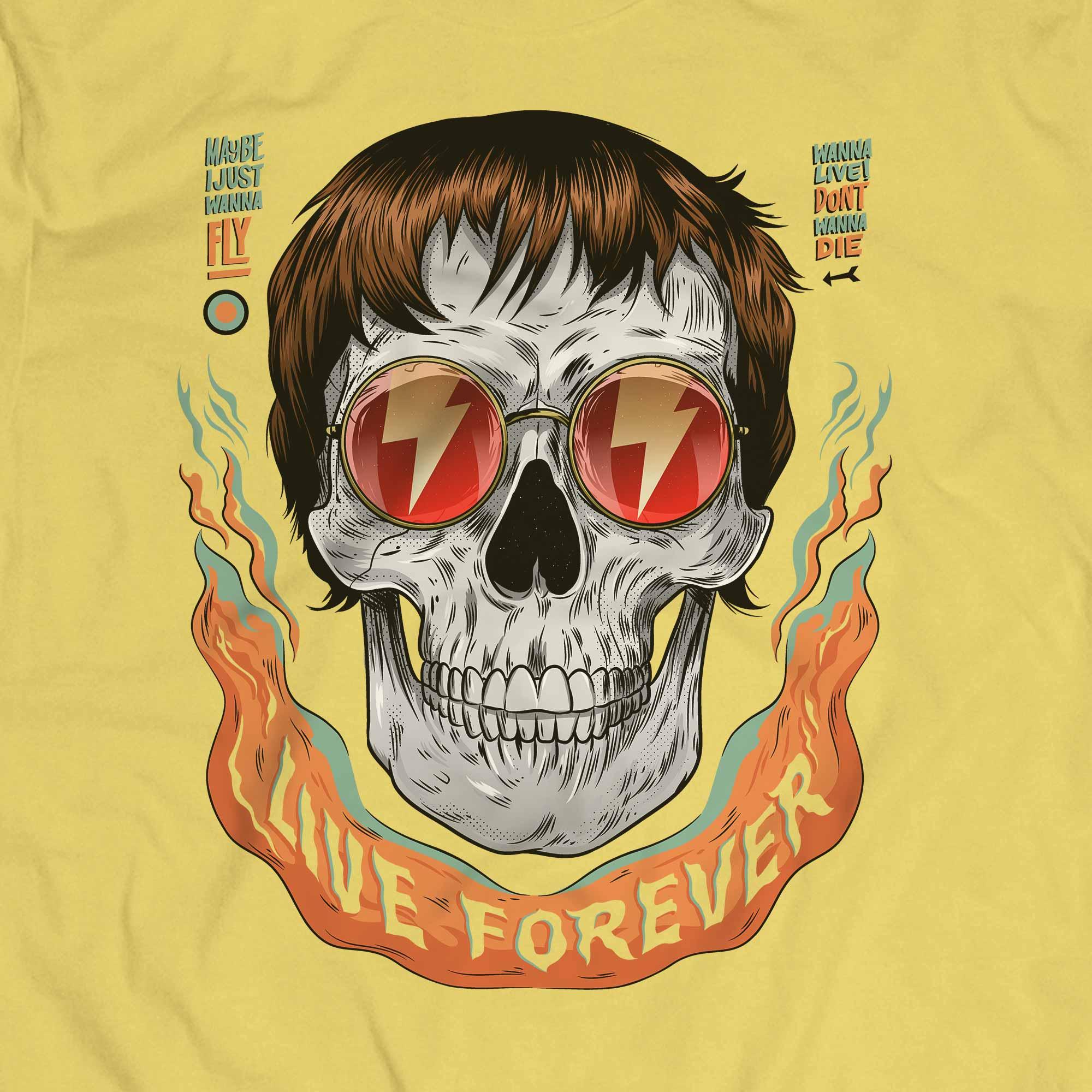Camiseta Caveira Live Forever - Masculino
