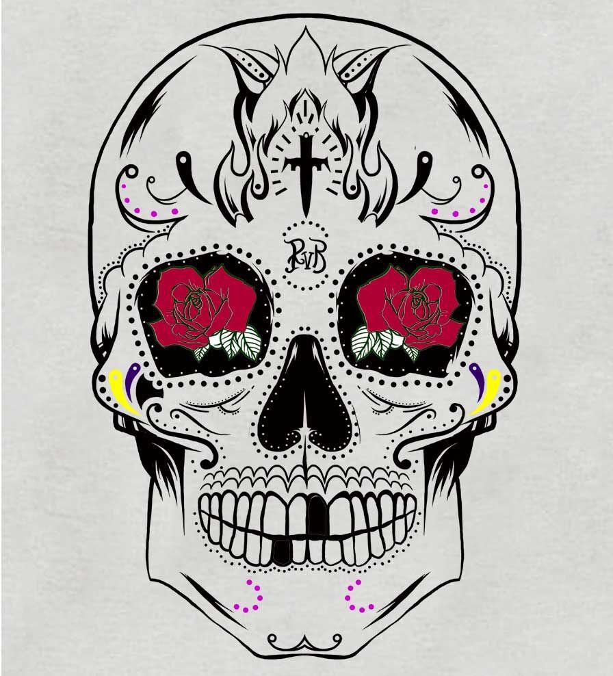 Camiseta - Caveira Mexicana - Feminino