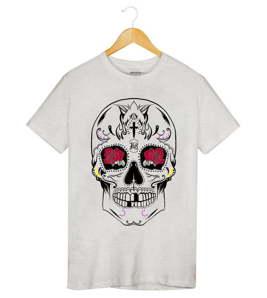 Camiseta - Caveira Mexicana - Masculino