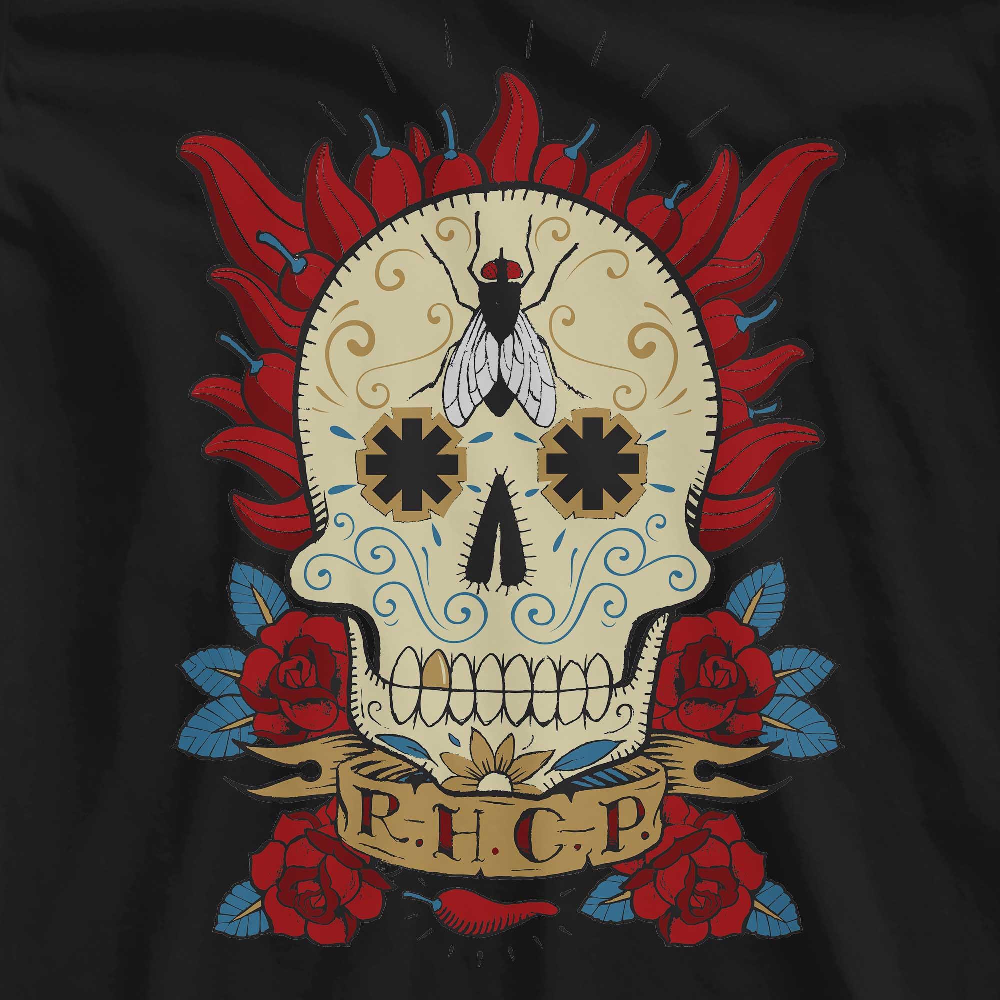 Camiseta Caveira Mexicana - Red Hot Chili Peppers - Feminino