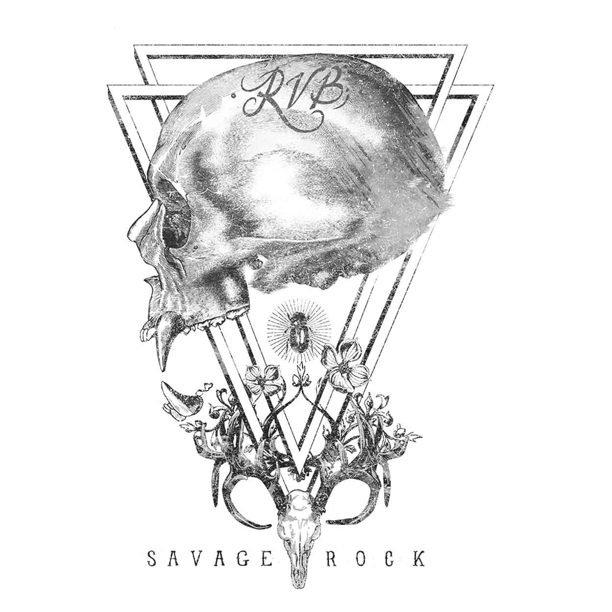 Camiseta - Caveira Savage Rock - Masculino
