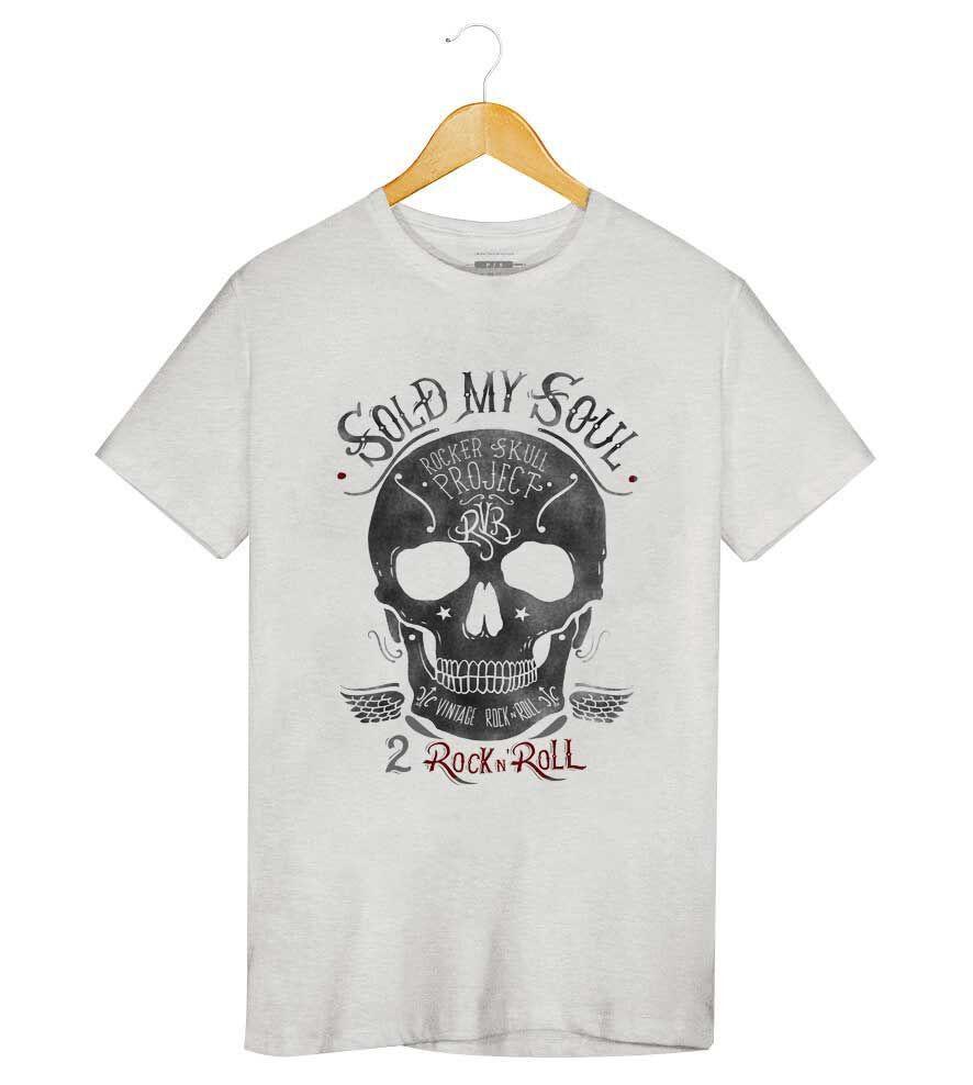 Camiseta - Caveira Vintage - Masculino