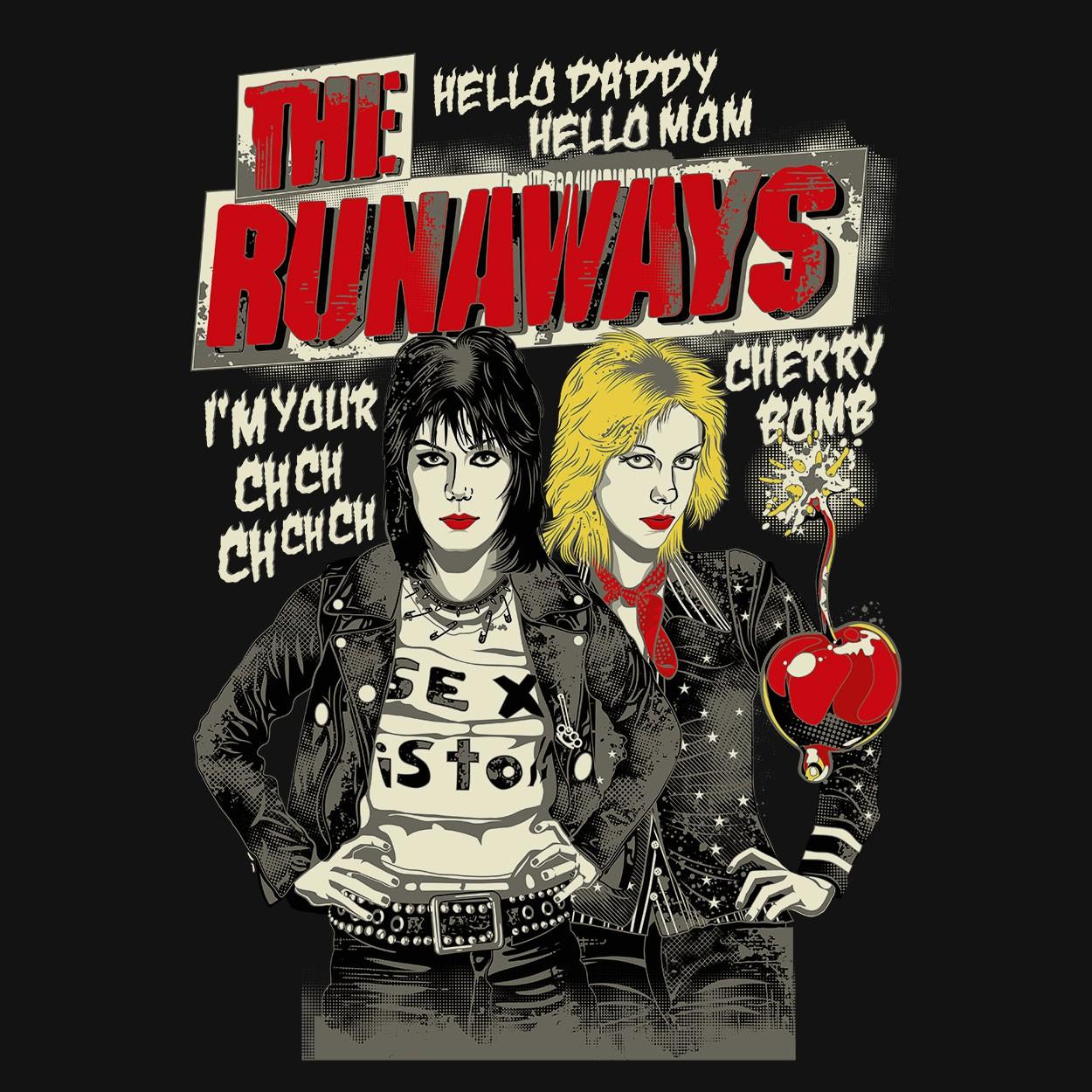 Camiseta Cherry Bomb - The Runaways - Masculino