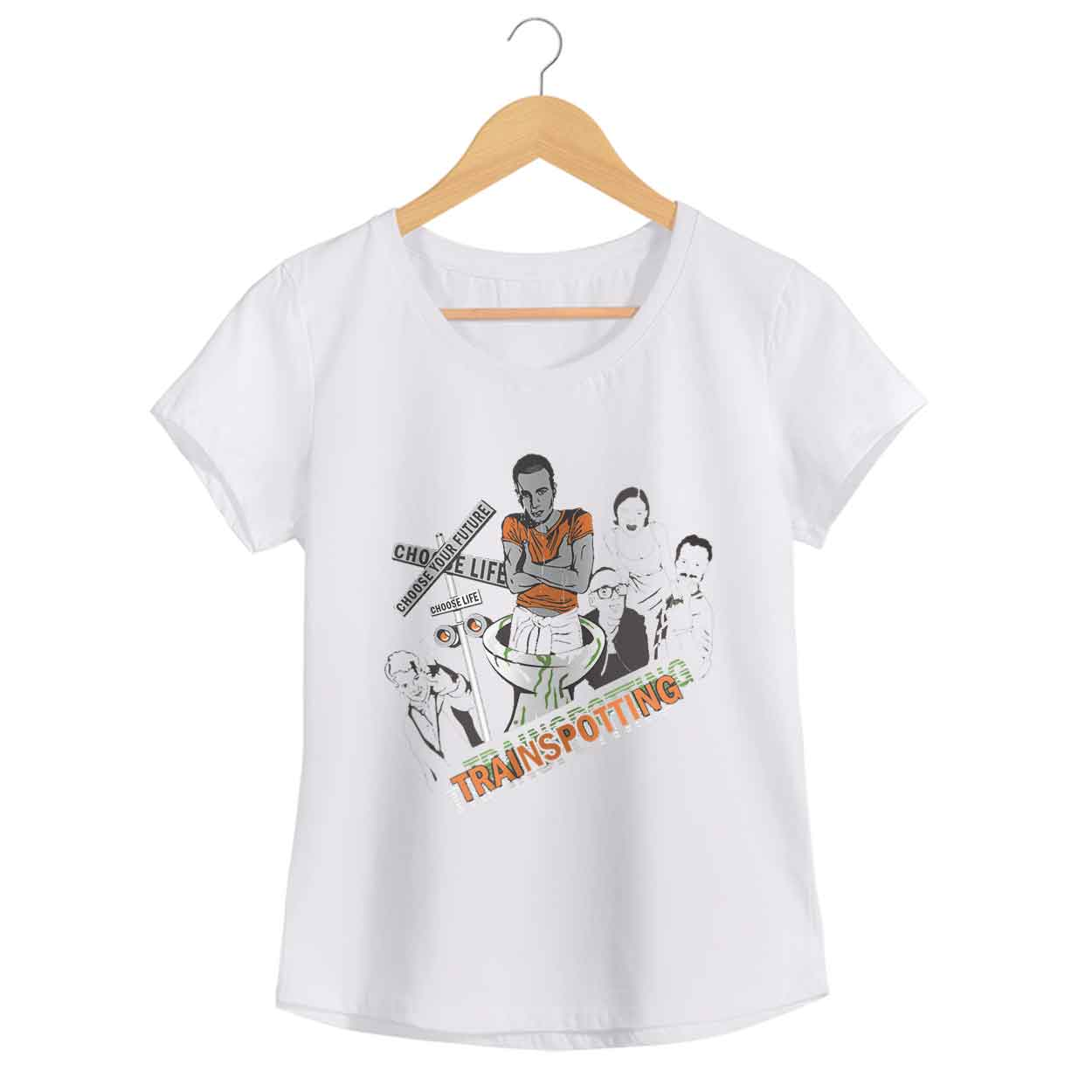 Camiseta - Choose Life - Trainspotting  - Feminino
