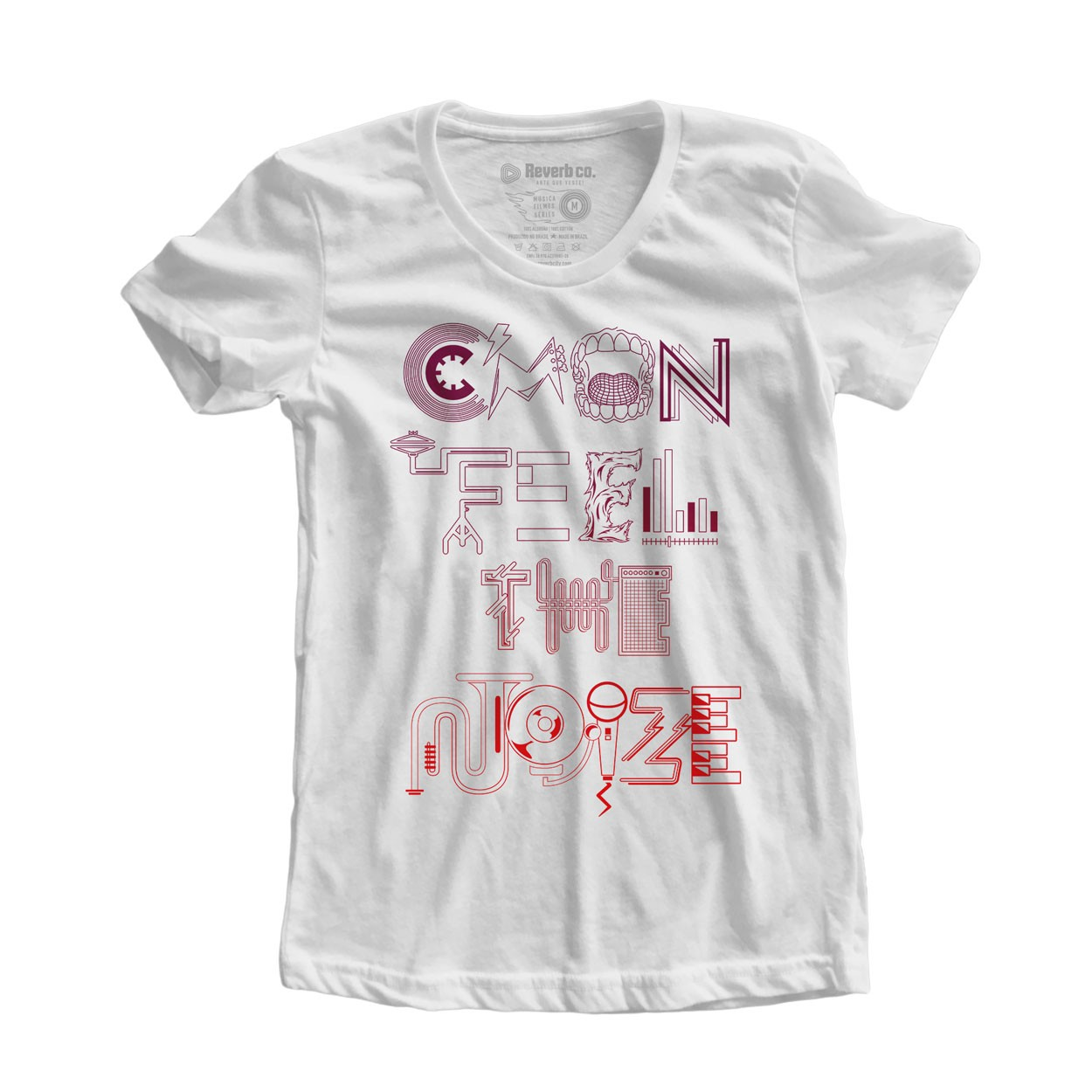 Camiseta Cmon Feel the Noize - Feminino