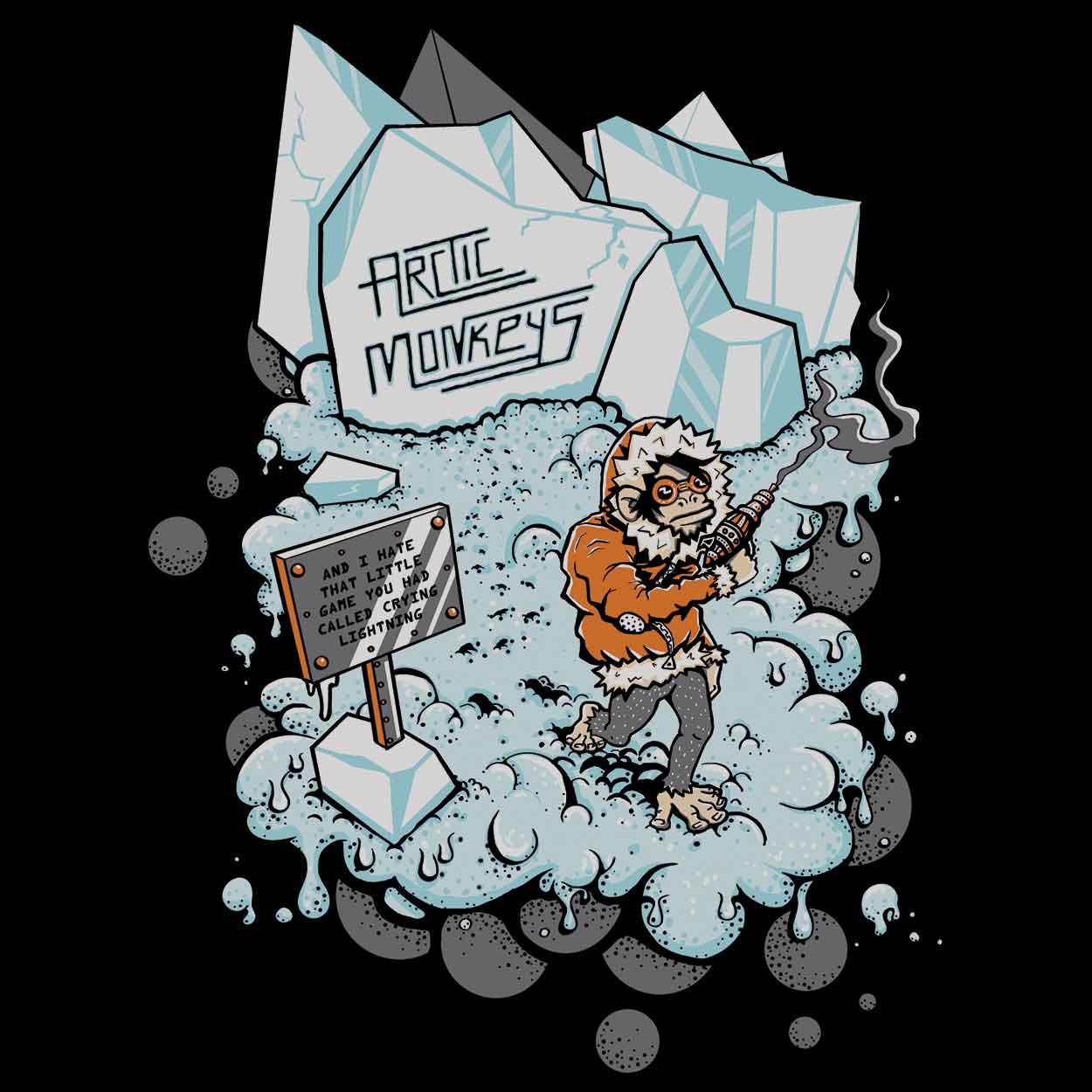Camiseta Crying Lighting - Arctic Monkeys - Infantil