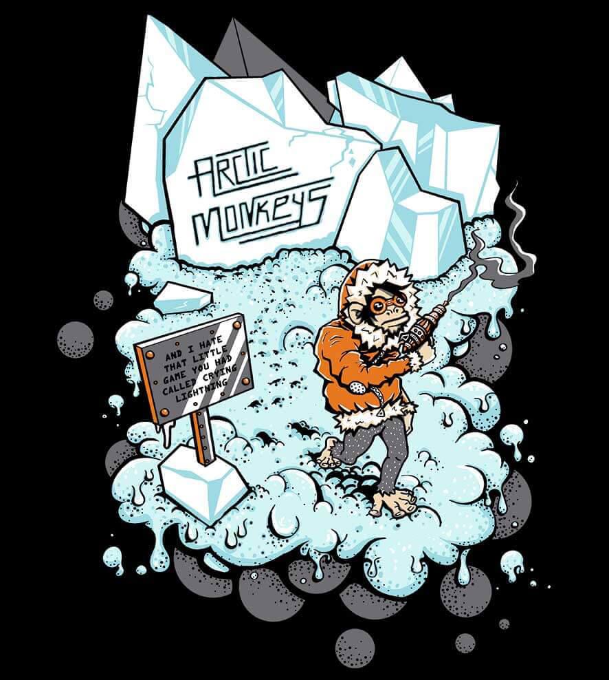 Camiseta - Crying Lighting - Artic Monkeys - Masculino