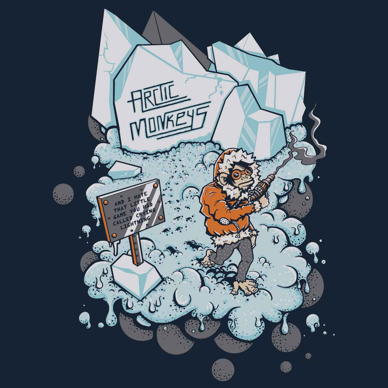 Camiseta Crying Lighting - Arctic Monkeys - Masculino