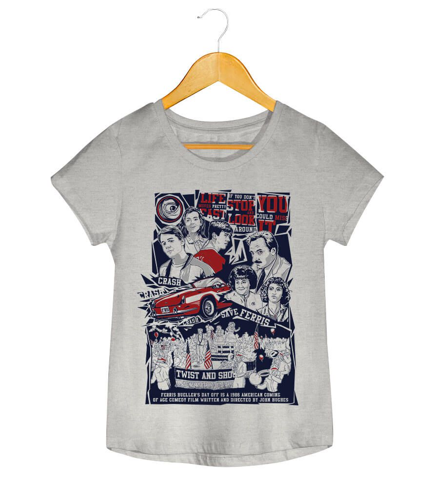 Camiseta - Curtindo a Vida Adoidado - Feminino