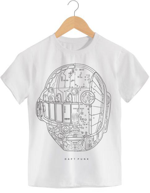 Camiseta - Daft Punk - Infantil