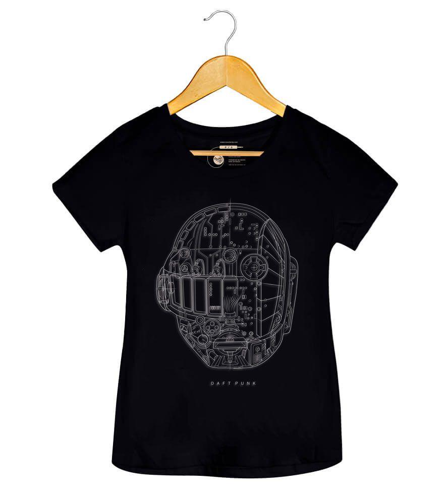 Camiseta - Ram - Daft Punk - Feminino