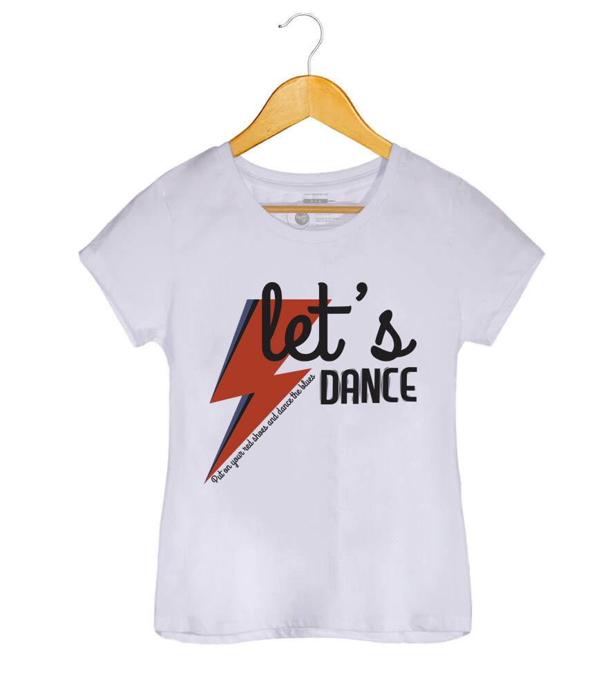 Camiseta - Dance the Blues - David Bowie - Feminino
