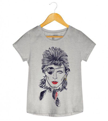 Camiseta - Rebel - David Bowie - Feminino