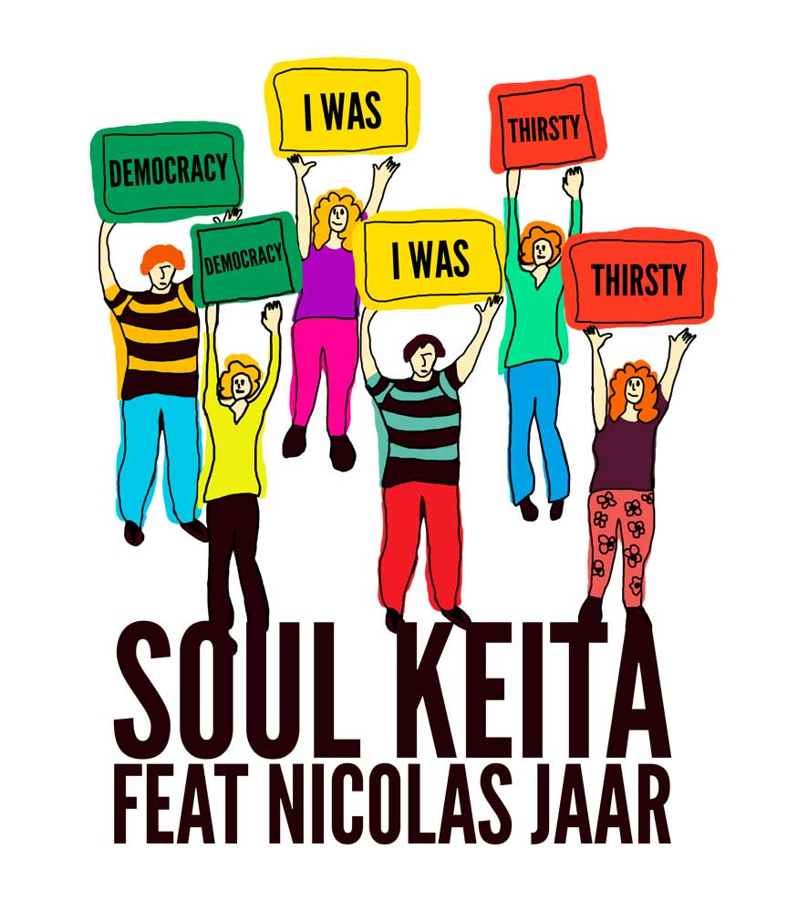 Camiseta - Democracy I Was Thirsty - Soul Keita - Masculino