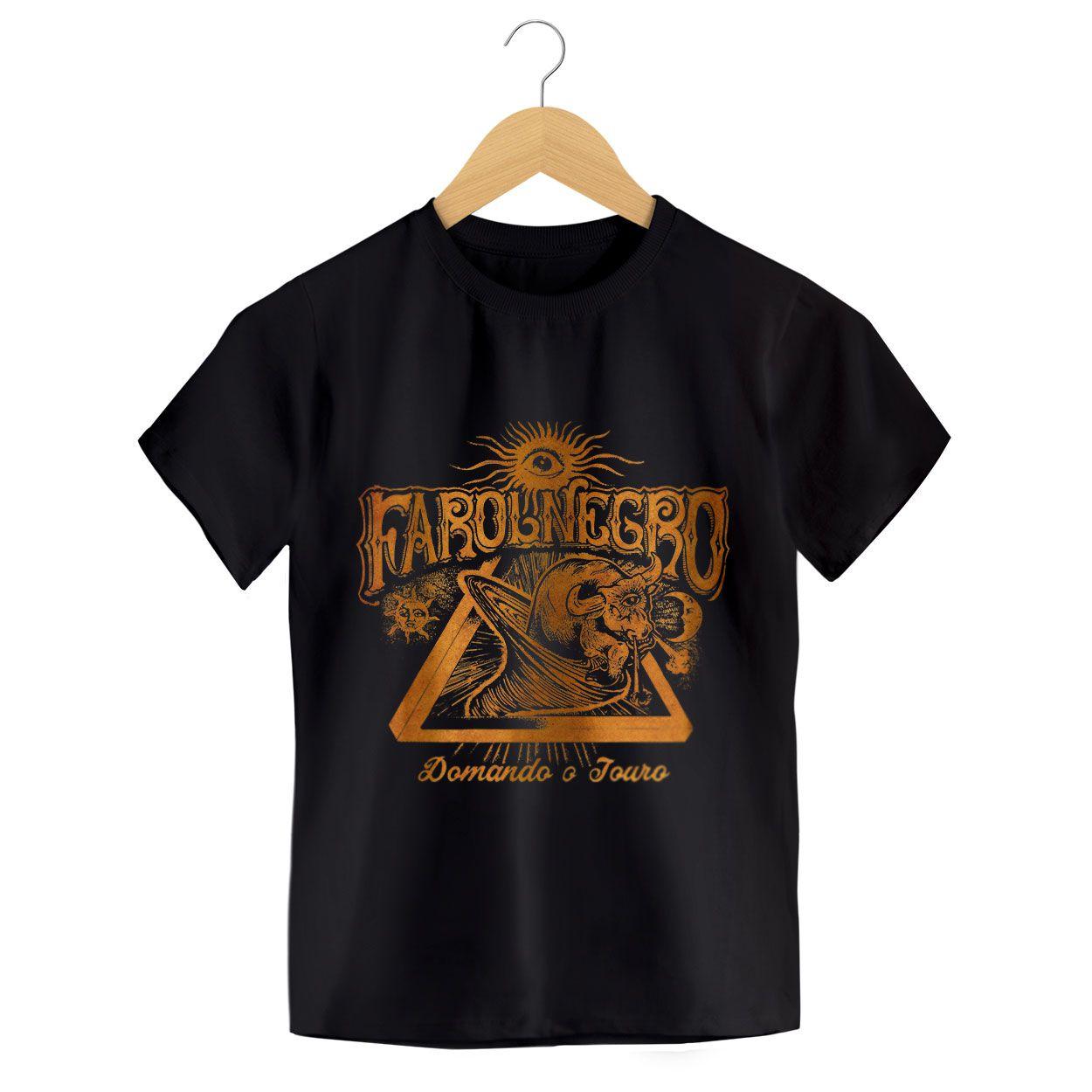 Camiseta - Domando o Touro - Farol Negro - Infantil