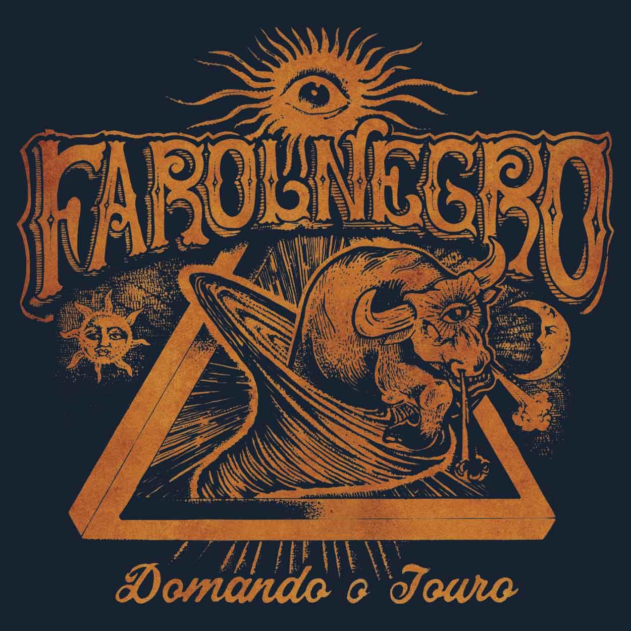 Camiseta - Domando o Touro - Farol Negro -  Masculino