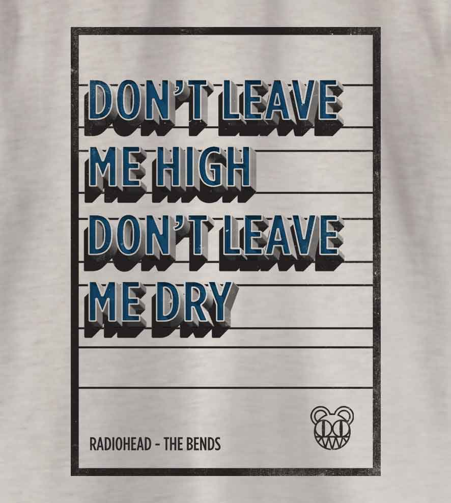 Camiseta - Don't Leave Me High - Radiohead - Infantil