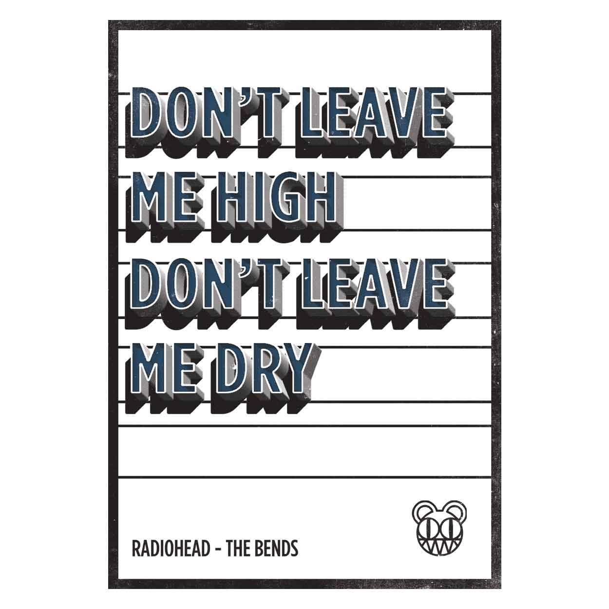 Camiseta Don't Leave Me High - Radiohead - Infantil